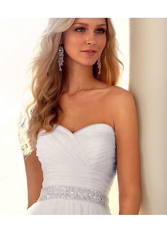 Elegant Chiffon A-line Sweetheart Wedding Dress For Your Beach Wedding