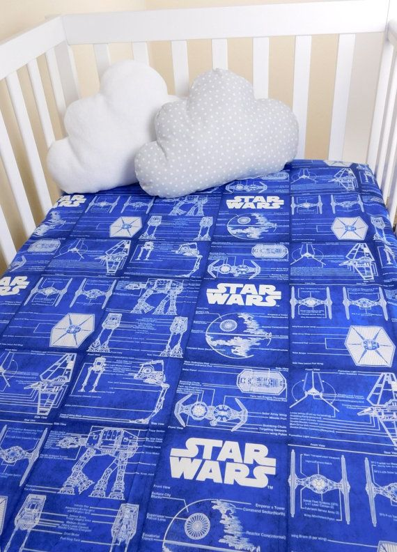 Stars Wars nursery bedding, Star Wars Crib sheet made from premium quality 100% cotton fabric with french seams and encased continuos elastic