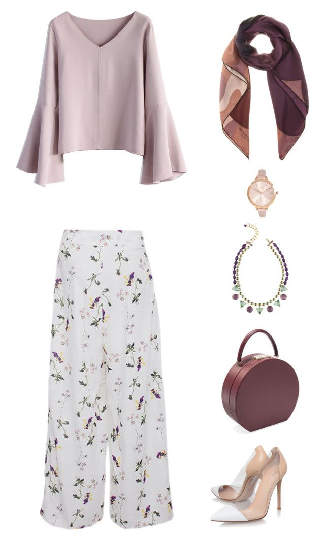 """Untitled #73"" by priliscaa on Polyvore featuring Chicwish, Burberry, Gianvito Rossi, BUwood and River Island"