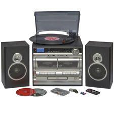 Midi HiFi Music System   USB MP3 Vinyl Record Turntable CD Player & Speakers
