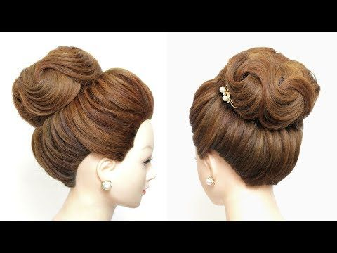 New Hairstyle For Girls Latest High Bun Youtube Bun Hairstyles For Long Hair High Bun Hairstyles New Bridal Hairstyle