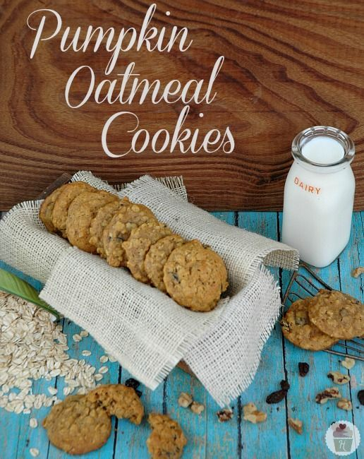 The BEST Cookie you will bake this Fall! Pumpkin Oatmeal Cookie Recipe :: HoosierHomemade.com