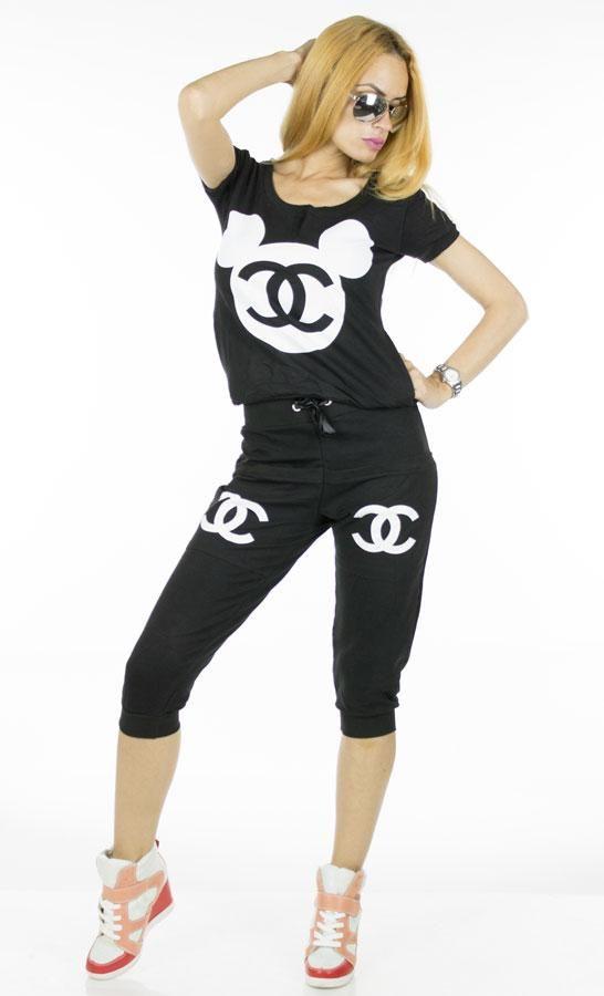 Trening Dama Elite  -Trening dama  -Model compus din bluza casual si pantalon 3/4, ce se aseaza bine pe corp si poate fi purtat cu usurinta zi de zi.     Lungime pantalon: 70cm  talie pantalon: 35cm  Lungime bluza: 52cm  Talie bluza: 37cm  Compozitie: 100%Bumbac