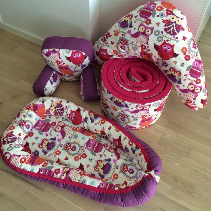 Babynest, nursing pillow, pram pillow & bed bumper.   Www.ummi.dk
