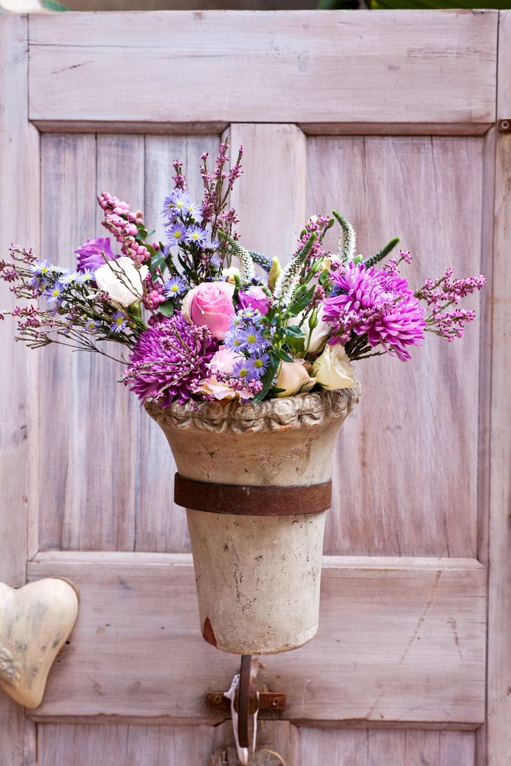 This is a lovely bright flower arrangement for a wedding. These flowers in a vase at home would also look amazing!