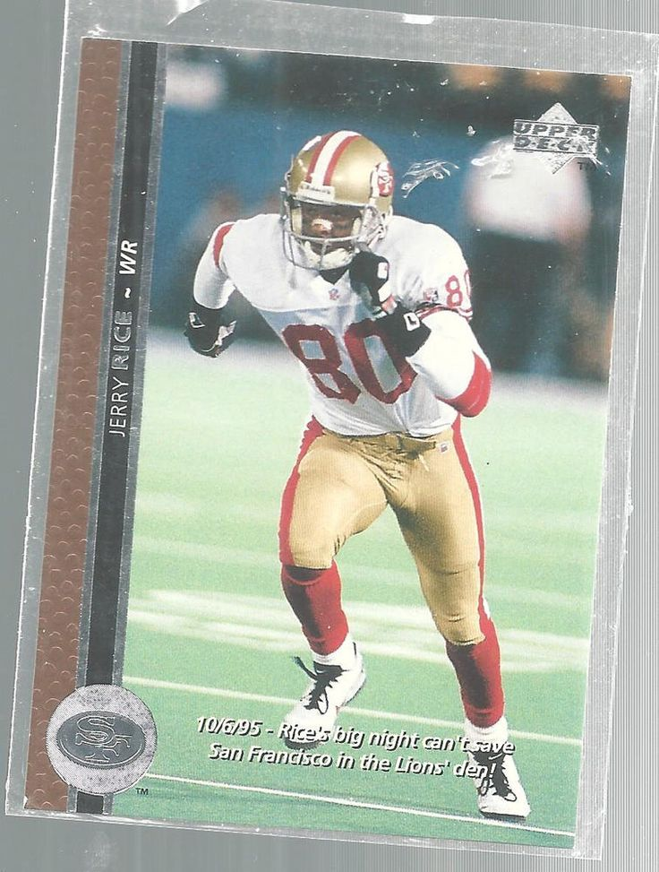 Jerry Rice San Francisco 49ers Upper Deck 1995 Football Trading Card #SanFrancisco49ers