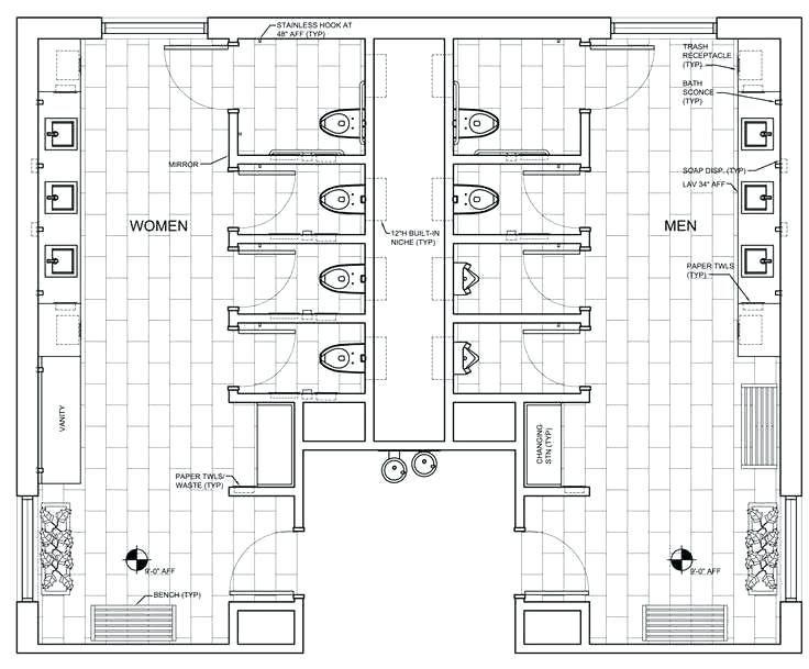 Grundriss Des Offentlichen Badezimmers Image Result For Grundriss Des Offentlichen Badezimmers Bathroom Floor Plans Public Restroom Design Restroom Design