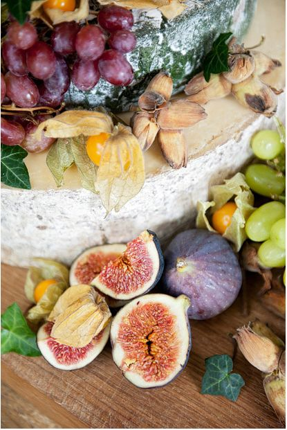 Figs and grapes are a great way to add a little punch of natural color