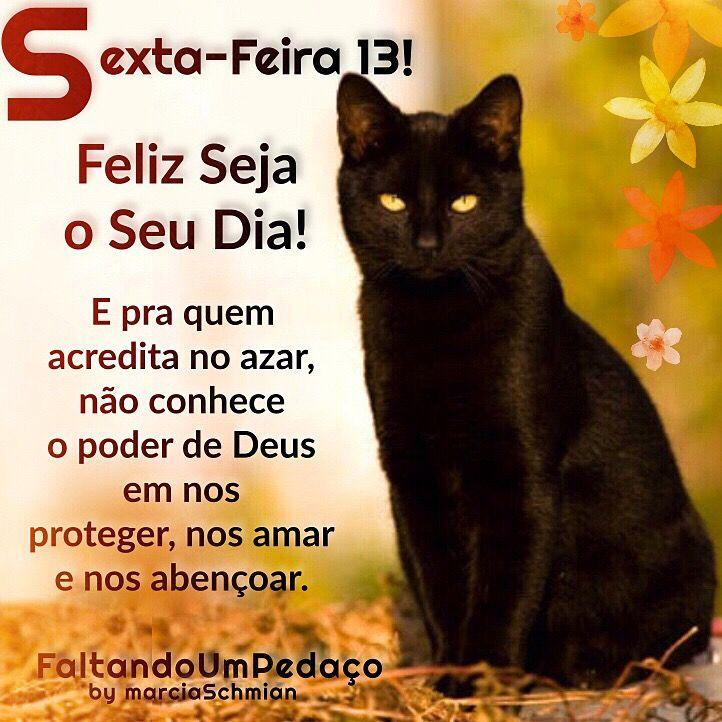 Bom Dia Sexta Feira Bomdia Sextafeira13 Sexta Gatopreto