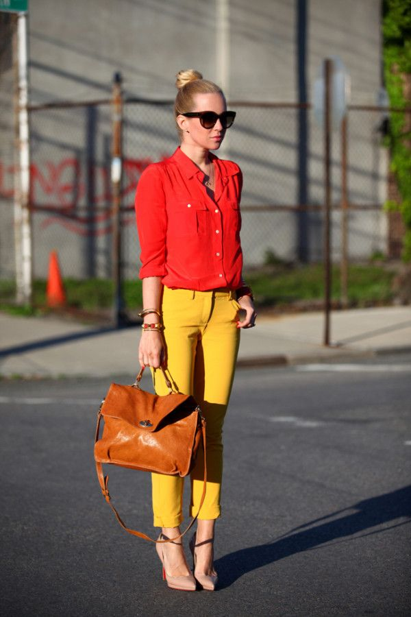 64 Best Images About How To Wear Yellow Jeans On Pinterest