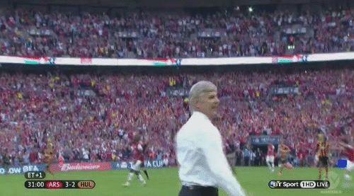 Arsene Wenger's moment of joy