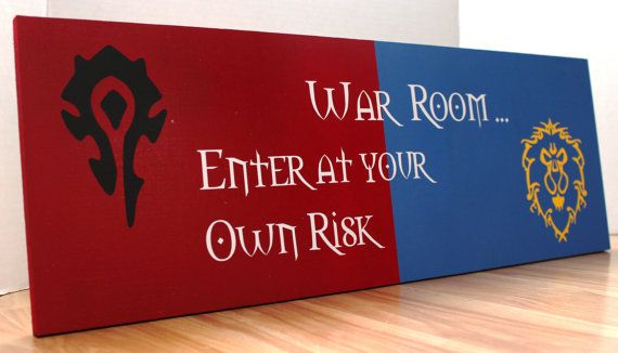 FALL SPECIAL! FREE SHIPPING! Whether you are for the Horde or the Alliance, this sign is a great addition to any gamers room. Measuring 8x23 inches,