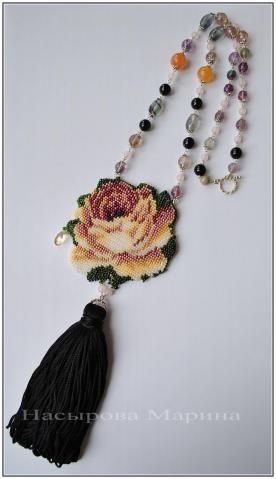 needlepoint ? flower and tassel