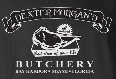 Humor Novelty Dexter Morgan Butcher Shop Miami Florida Bay Harbor T-Shirt