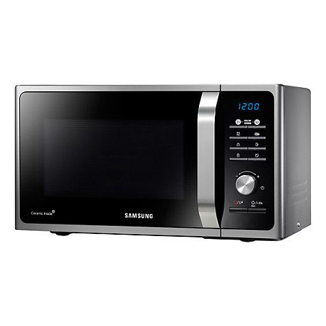 Buy Samsung MS23F301TAS SOLO Microwave Oven, Silver Online at johnlewis.com
