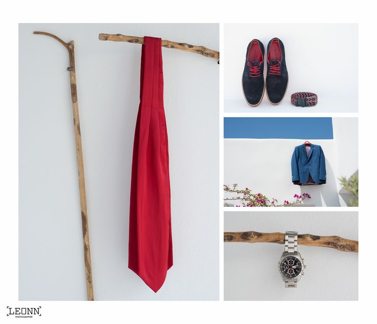 Grooms outfit details by Leonn