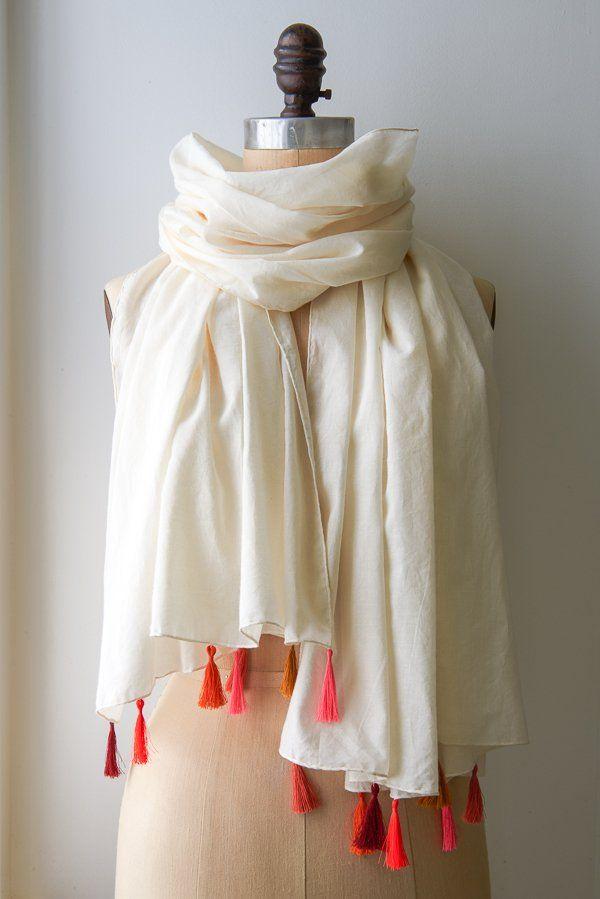 Mejores 371 imágenes de scarves en Pinterest | Patrón de costura ...