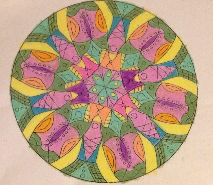 Mandala- oil pastel