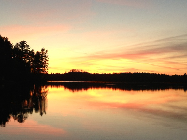 Little Penage lake  One of the most breathtaking sunsets I have ever seen