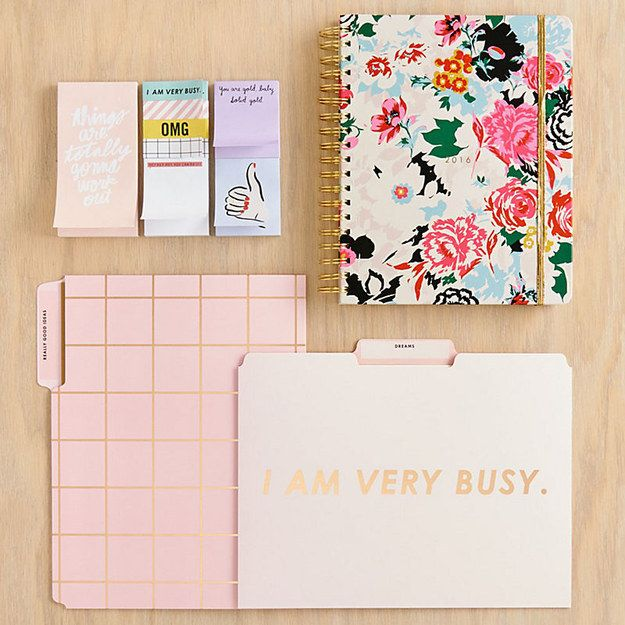 Surround yourself in office supplies that do the talking for you. | 22 Ways To Make The Office Your Happy Place