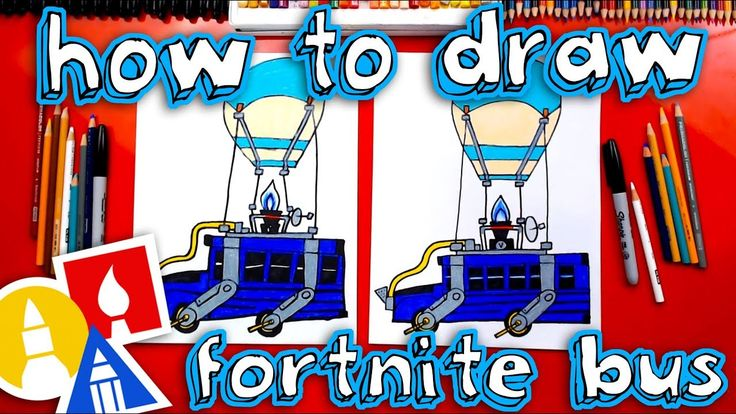 How To Draw The Fortnite Battle Bus Bus drawing