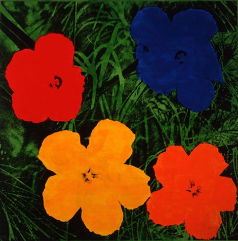 Andy Warhol (American, 1928-1987)      Flowers, 1964    acrylic, silkscreen ink, and pencil on linen    80 7/8 x 81 in. (205.4 x 205.7 cm.)    The Andy Warhol Museum