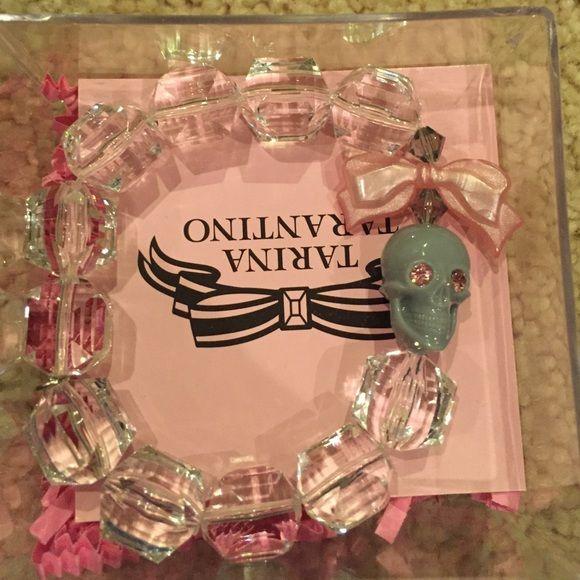 Crystal skull and bow Tarina Tarantino bracelet Brand new in original box Tarina Tarantino Jewelry Bracelets