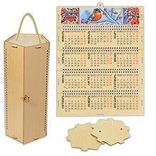 Футляр-календарь пятигранный из фанеры