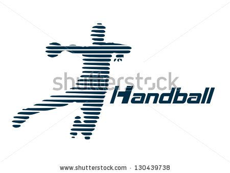 Handball vector - stock vector