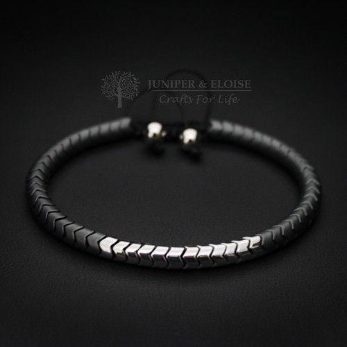 Matte Gray Bracelet For Men, Snake skin Bracelet