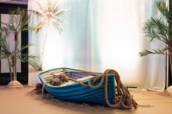 Rowing Boat - Blue | Seaside Party Theme | Seaside Party Theming Hire | Event Prop Hire