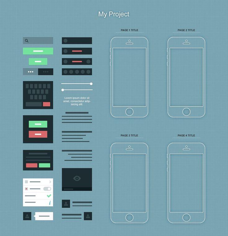 Wireframe: Free IPhone App Wireframe