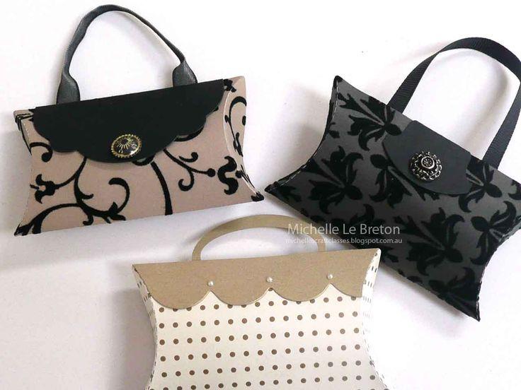 Pillow box handbags - michelle le breton