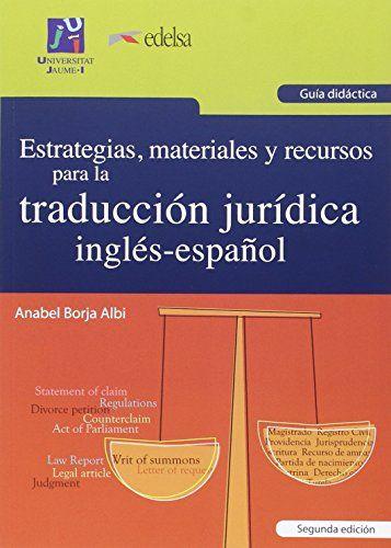 Estrategias, materiales y recursos para la traducción jur... https://www.amazon.es/dp/8490819556/ref=cm_sw_r_pi_dp_x_YyWjyb9FXTGN6