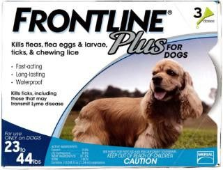 Frontline Plus Fea And Tick Treatment For Dogs 23-45 Pounds 3 Month Supply