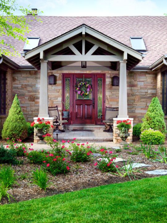 47 best exterior add a gable images on pinterest for Front door styles for ranch homes