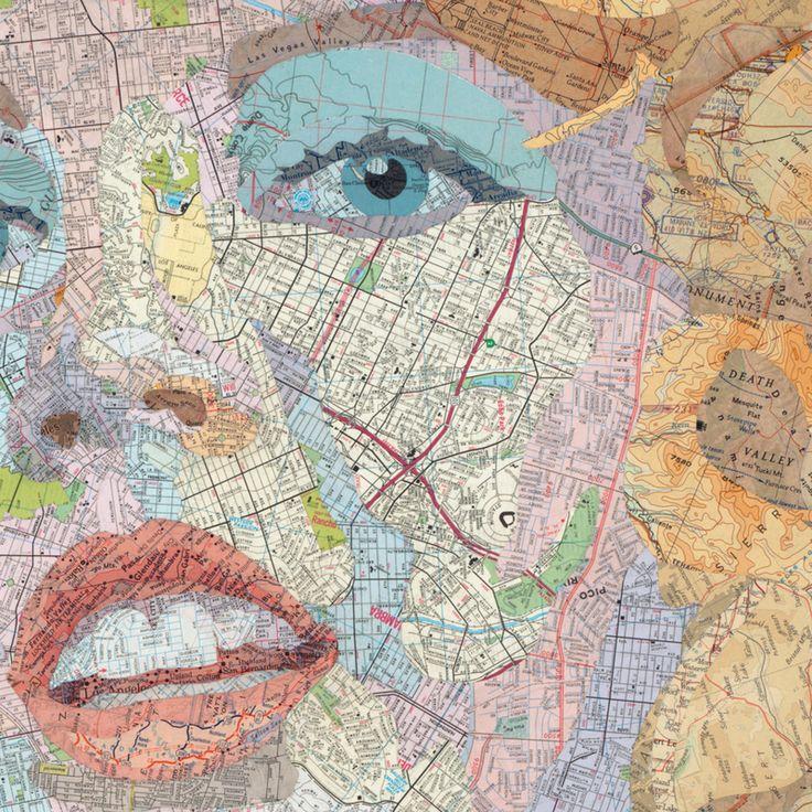 Matthew Cusick Paintings u0026 Collage