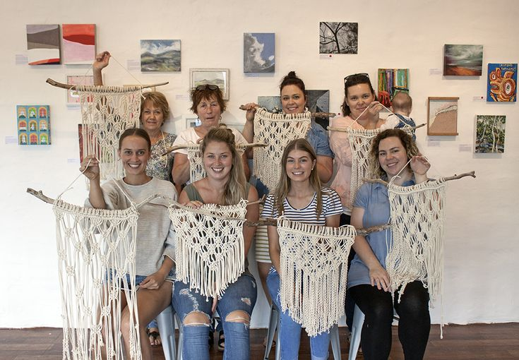 Macrame Wall Hanging Workshop at The Corner Store Gallery with Madeline Young www.cornerstoregallery.com