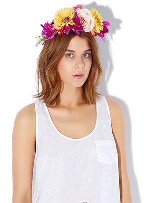 Clarissa Flower Crown Bando   Multi   Accessorize