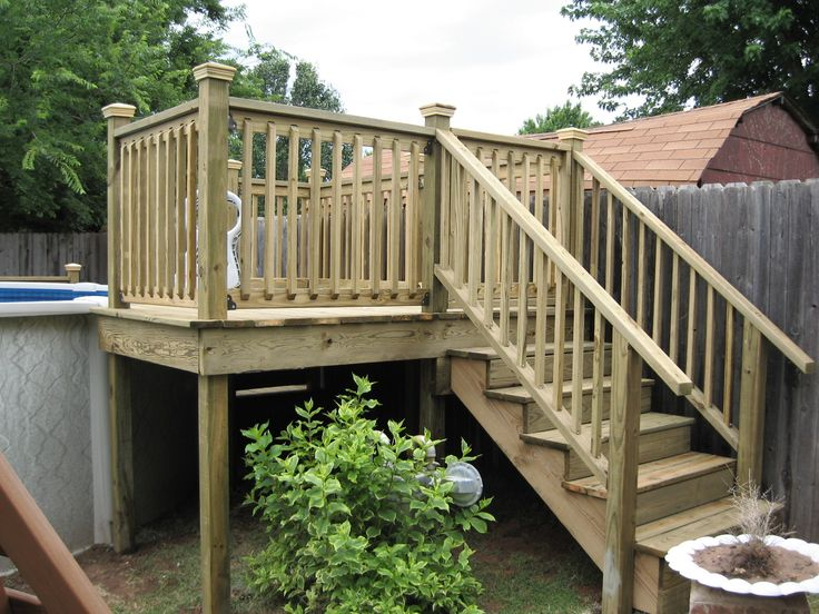 decks for above ground pools is a deck we built for an above ground pool