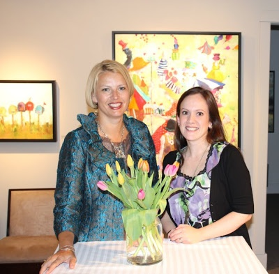 #CanadianArtist Angela Morgan & Woodlands Gallery Manager Jenny Tasker. via - Artful Musings from the Gallery Gal: Libations, Lollipops, and Lines of Longitude