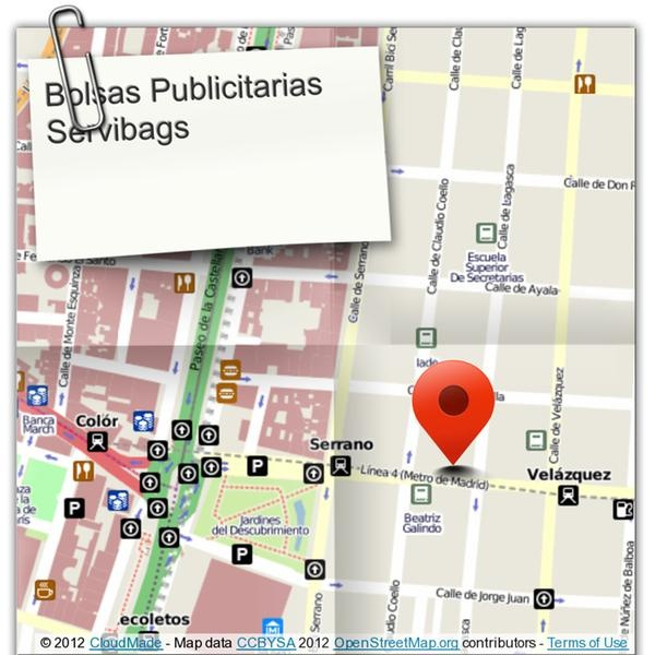 Oficinas en  Madrid de Bolsas Publicitarias Servibags. Sus bolsas de papel impresas y en su negocio en 72 horas. Bolsas de papel de fabricación, de  alta gama, bolsas de tela y portatrajes. Contamos con el Sello de Confianza On Line.
