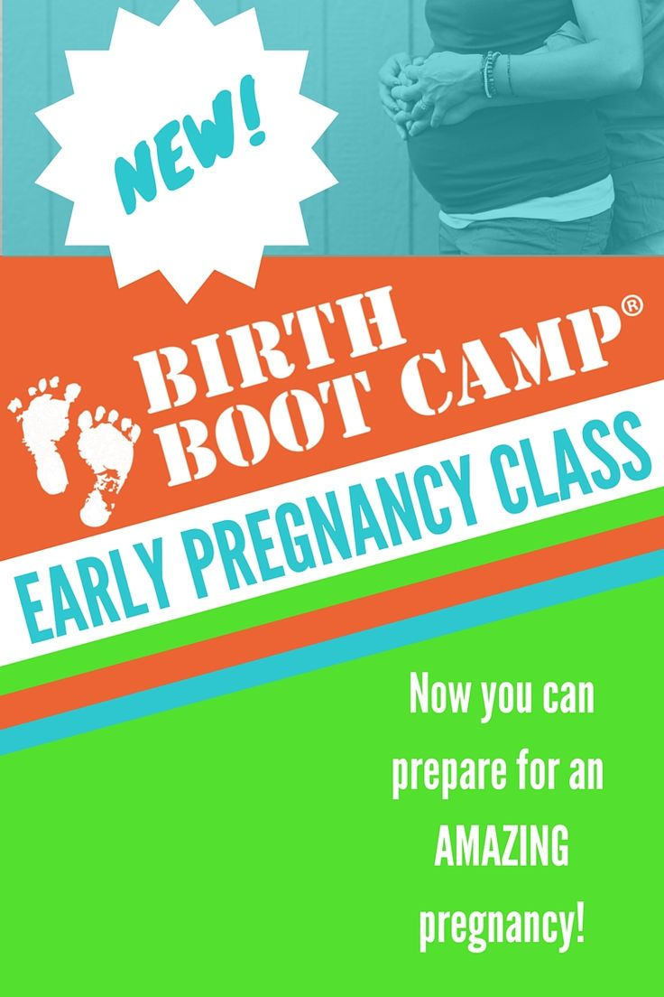Birth Boot Camp is excited to announce a new class! The Birth Boot Camp Early Pregnancy Class helps you prepare early for your best pregnancy!