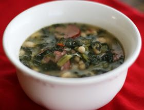 TURNIP GREEN SOUP 2 packages (10 ounces each) Turnip Greens (I use frozen without the turnips) 1package Knorr vegetable soup mix 1 can (a...