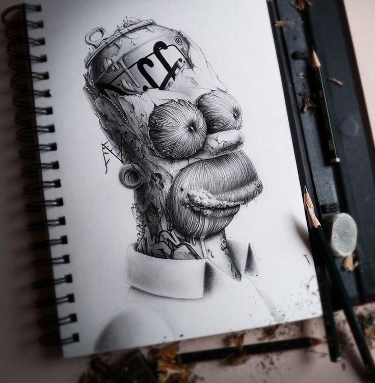 Homer Simpson Dark by PEZ