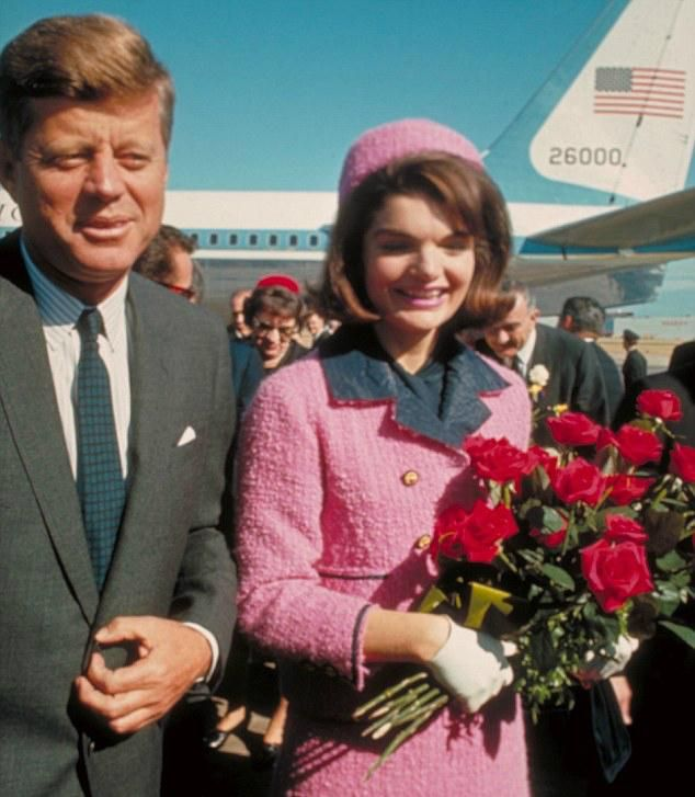 Jackie Kennedy and her pink Chanel suit.