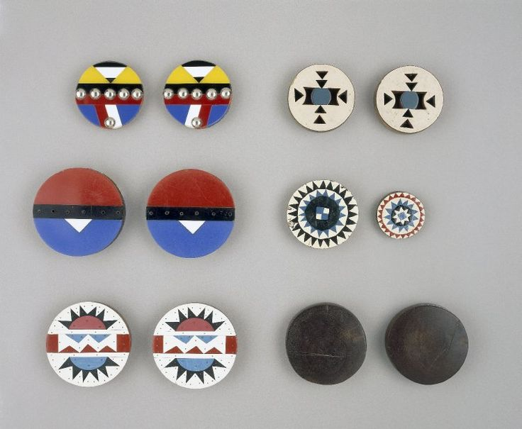 Africa | Adornment | Zulu | Ear-discs mostly made in the period 1950-1990 either in Johannesburg, Durban or smaller towns of the Msinga district of Kwa-Zulu Natal, South Africa.