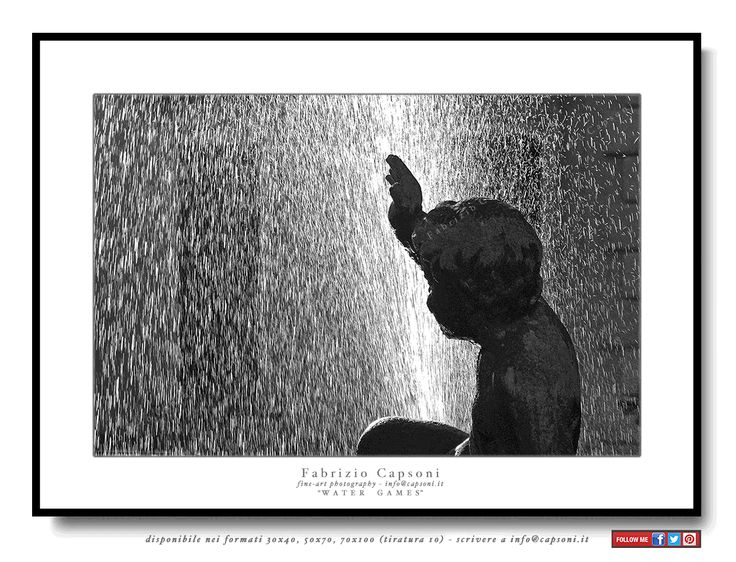"""Water games"" Como ©2005 FABRIZIO CAPSONI - Fine Art Giclée Print on cotton paper - Limited edition - #fotografia #fineart #art #Interiors #homedecor"