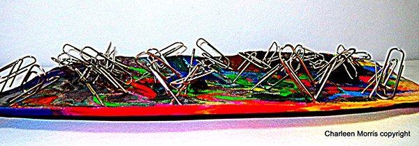 """Losing Memo"" Paperclip & Wax Sculpture by Charleen Morris, via Behance"