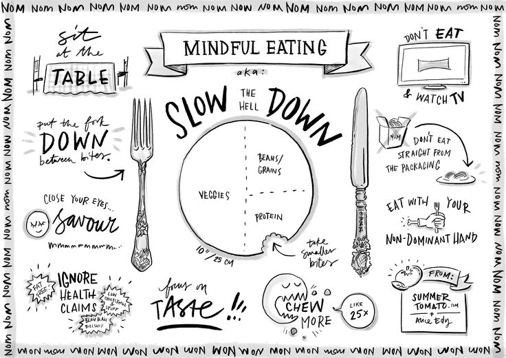 Slow down and enjoy your food! It's called mindful eating... When sitting down to a meal, be present with the food you are eating. Stay focused and concentrate on the actual taste of every morsel you put in your mouth. Chew slowly and thoroughly. Eating in a relaxed atmosphere will help your digestion and give you a chance to really appreciate your food, not just gulp it down. Read more: https://www.optiderma.com/articles/skin-emotions-gut-connection/